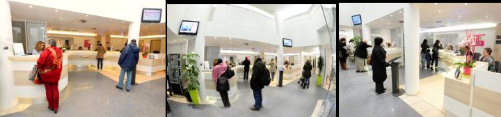 Hall d'accueil du Centre de Santé Jack Senet